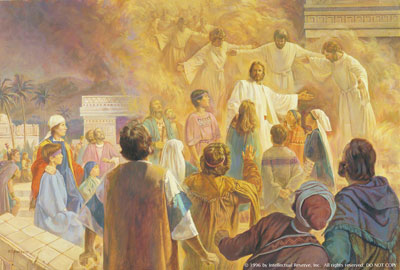 Jesus Blesses the Nephite Children by Robert T. Barrett. Image via lds.org