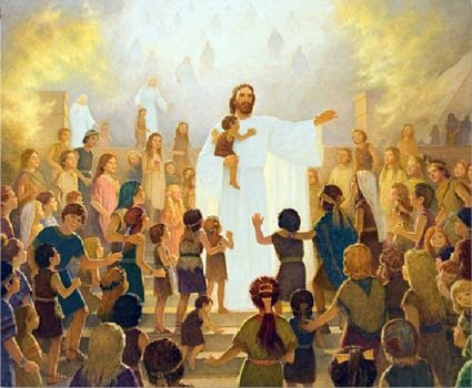 The children saw and spoke unspeakable things when Christ came to the Americas. Artist unknown.