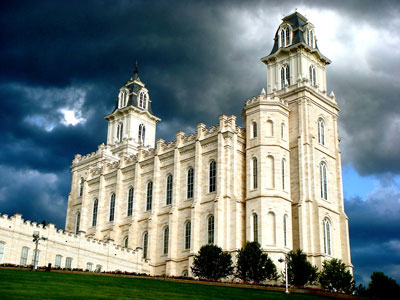 To follow the Lord, we must hold sacred covenants made in God's Holy Temple. Photograph of the Manti, Utah Temple from ldschurchtemples.com