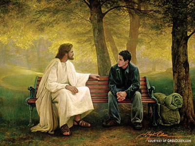 We can liken the scriptures to ourselves to know that Christ loves and ministers personally to God's children. Lost and Found by Greg Olsen