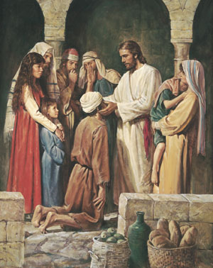 Christ Healing a Blind Man by Del Parson