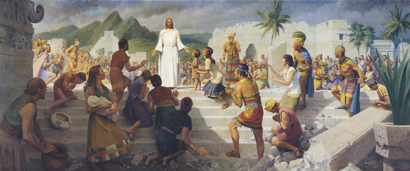 Jesus Teaching in the Western Hemisphere by John Scott