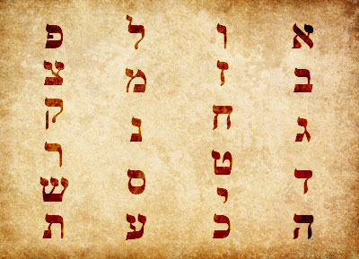 Hebrew acrostics used the letters of the alphabet to create poetic patterns. Hebrew Alphabet by Book of Mormon Central