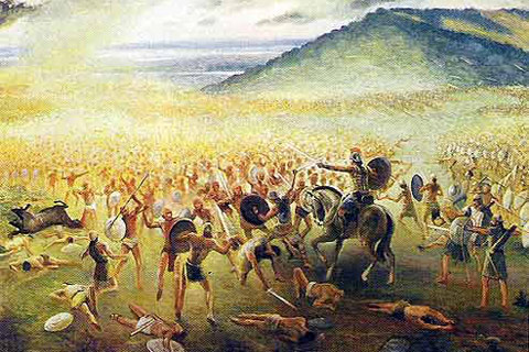 Depiction of the Nephites' Final Battle. Artist Unknown.