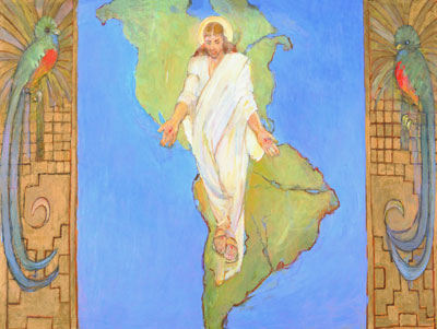 Christ in America by Minerva Teichert
