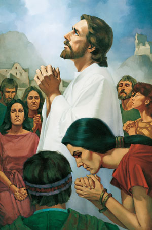 Christ Praying with the Nephites by Ted Henninger