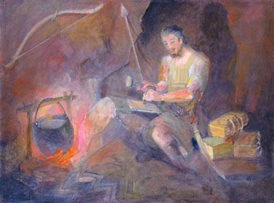 Moroni the Last Nephite by Minerva Teichert