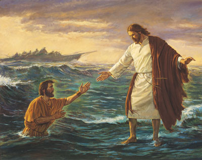 Christ Walking on the Water by Robert T. Barrett.