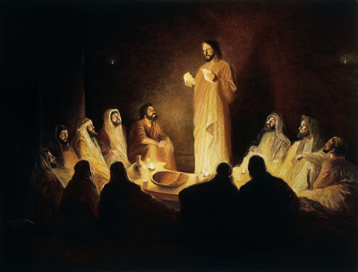 Jesus Institutes the Sacrament by Gary E. Smith