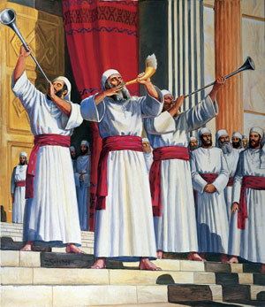 Ancient Israelite priests used music as part of temple worship. Artist unknown.