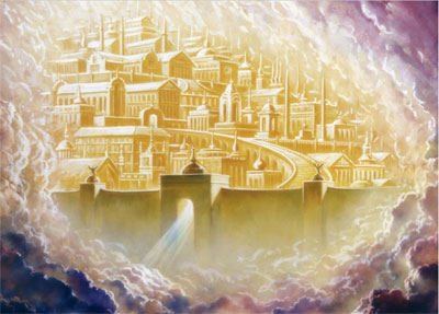 Image of the new or heavenly Jerusalem. Artist Unknown.