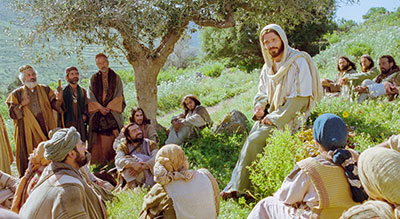 Christ teaching his disciples. Image via lds.org