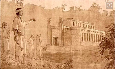 In ancient temples, officiants of temple rituals were received as messengers of the Lord. Image by Joseph Brickey.