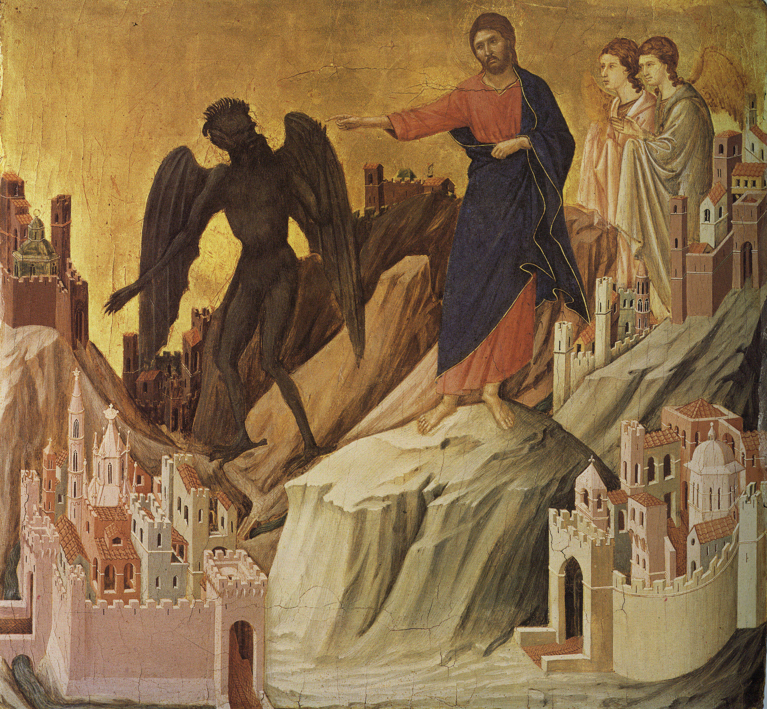 The Temptation of Christ on the Mountain by Duccio di Buoninsegna