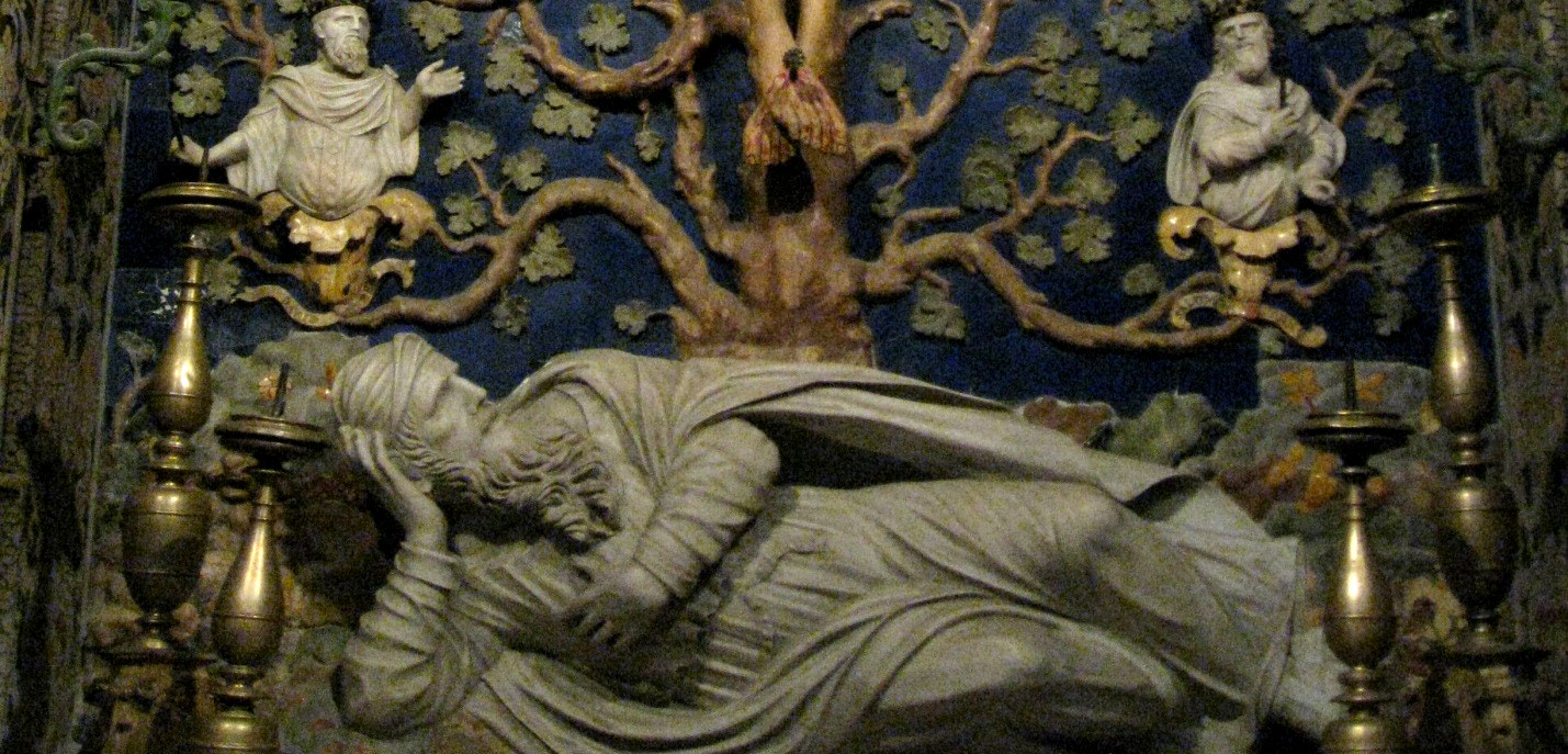 Depiction of the stem of Jesse as the tree of life in the Monreale Cathedral in Sicily