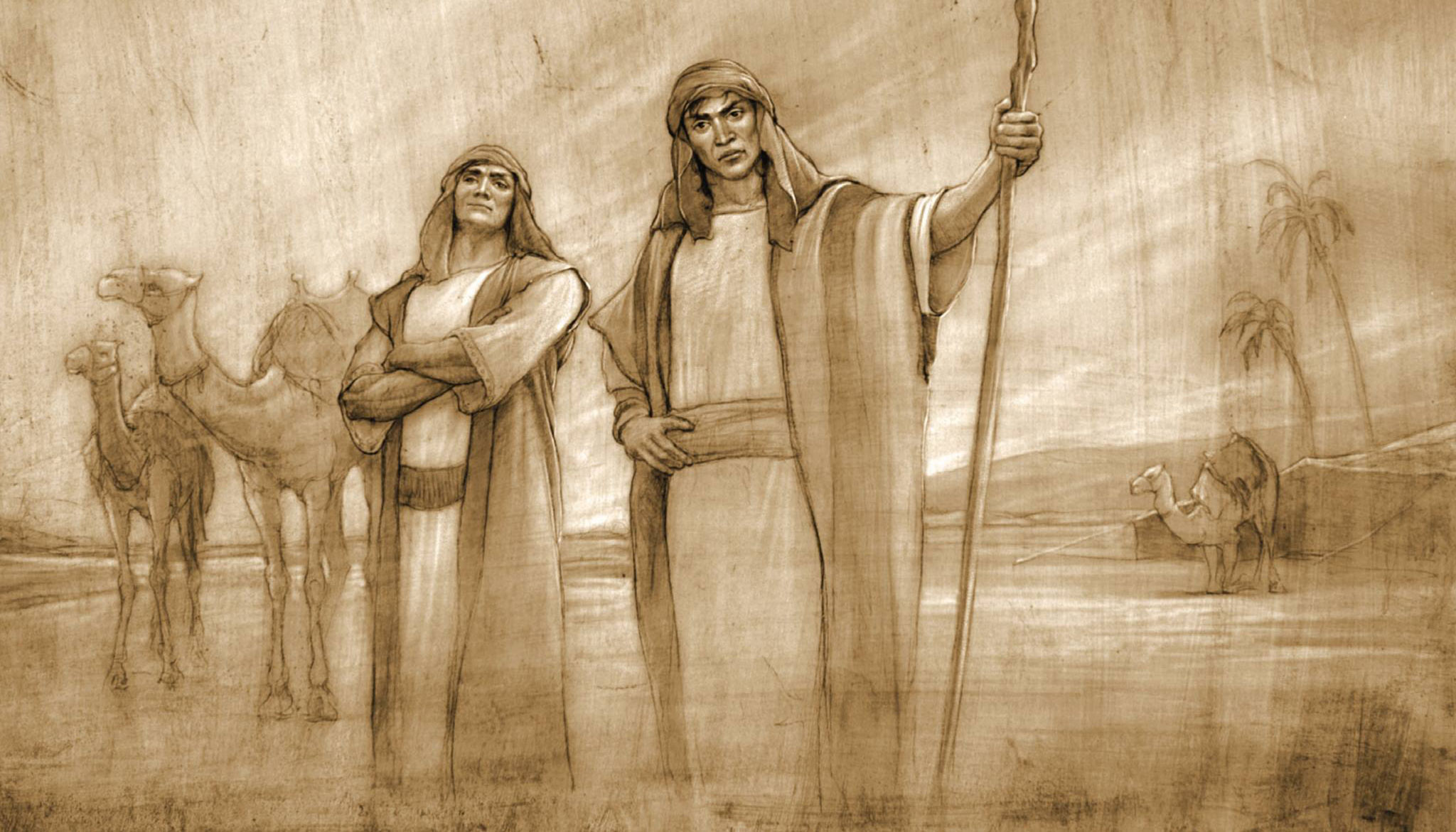 Laman and Lemuel struggled with pride, which kept them from fully accessing the Spirit. Image courtesy of Joseph Brickey.