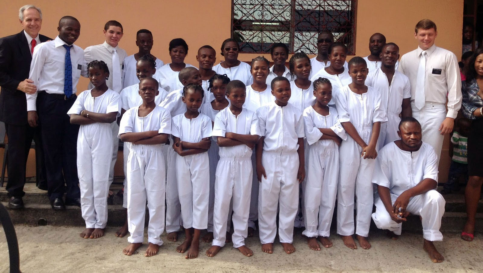 First Gabon Baptisms, photo by The Church of Jesus Christ of Latter-day Saints.