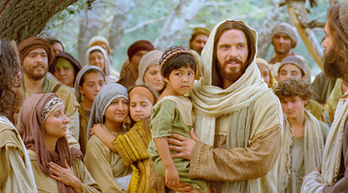 Christ and children. Image via lds.org