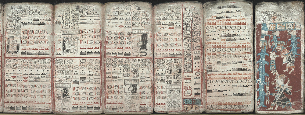 Mesoamerican histories often focused on a specific royal lineage. Image of the Dresden Codex via Wikipedia.