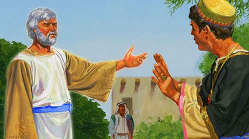 Jacob and Sherem. Image via lds.org