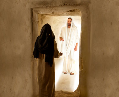 The Resurrection of Jesus Christ broke the bands of death for all mankind. Image via lds.org
