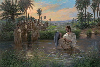 Jesus Himself Baptized by Jon McNaughton