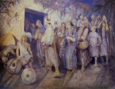 Escape of Limhi and His People by Minerva Teichert.