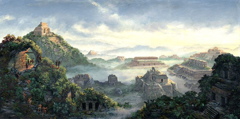 When Mosiah's people discovered the remains of the Jaredite civilization, it may have impressed into Mosiah's mind the dangers of kingship. Dawn on the Land of Desolation by James Fullmer.