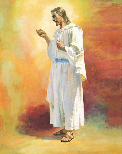 Painting of Jesus Christ by Harry Anderson. Image via lds.org.
