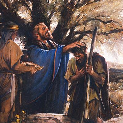 Melchizedek Blesses Abraham by Walter Rane.