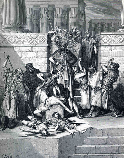 Slaughter of the Sons of Zedekiah by Gustave Dore.