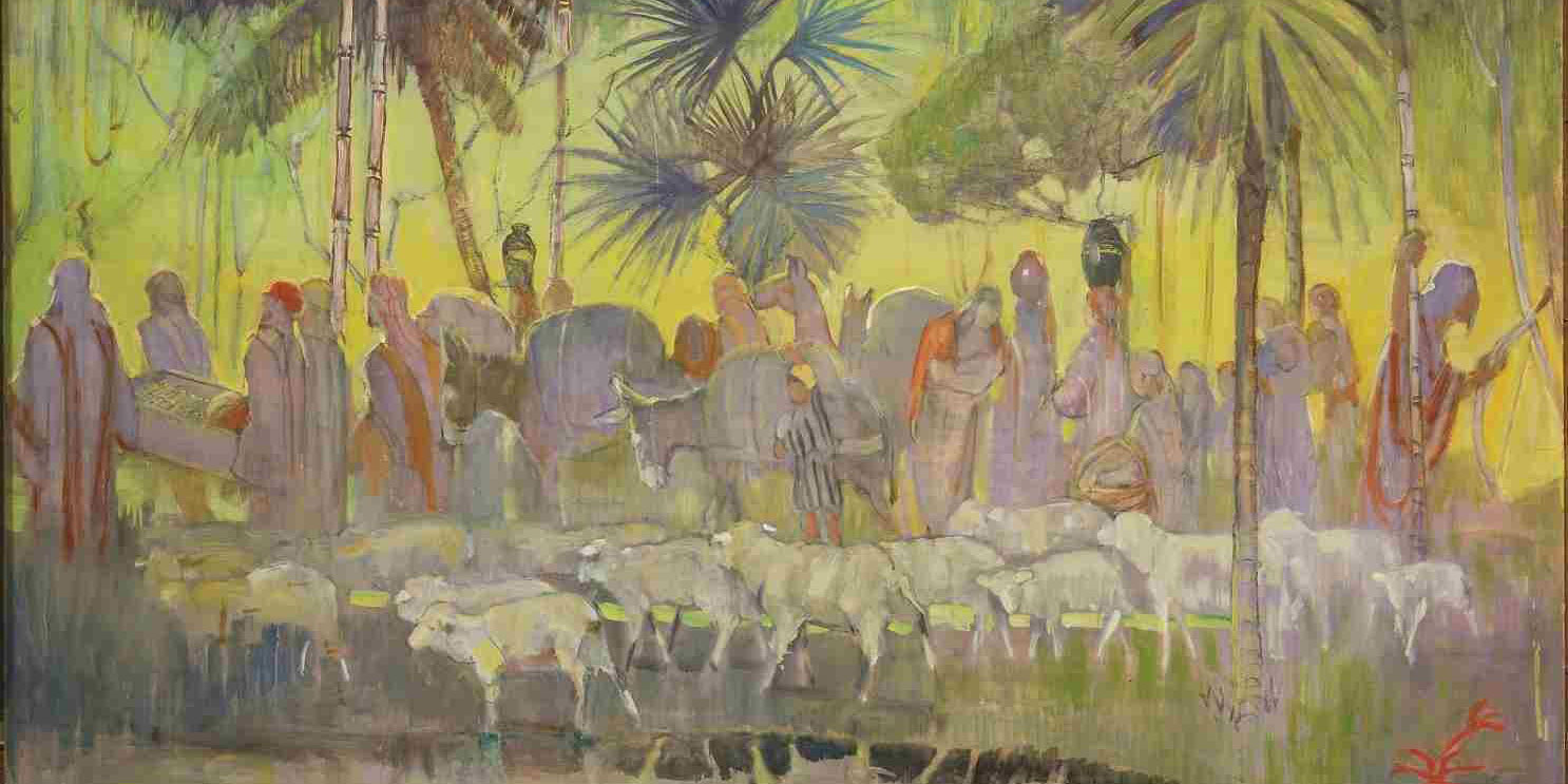 Alma's people were forced to endure persecution and wandering in the wilderness before being freed, but their burdens were made light by the Lord. Image by Minerva Teichert