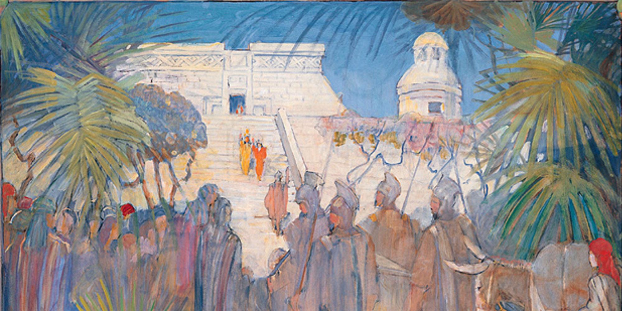 Mosiah Discovers Zarahemla by Minerva Teichert