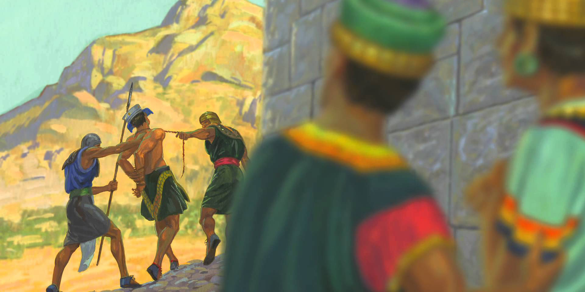 The execution of Nehor. Image via lds.org.