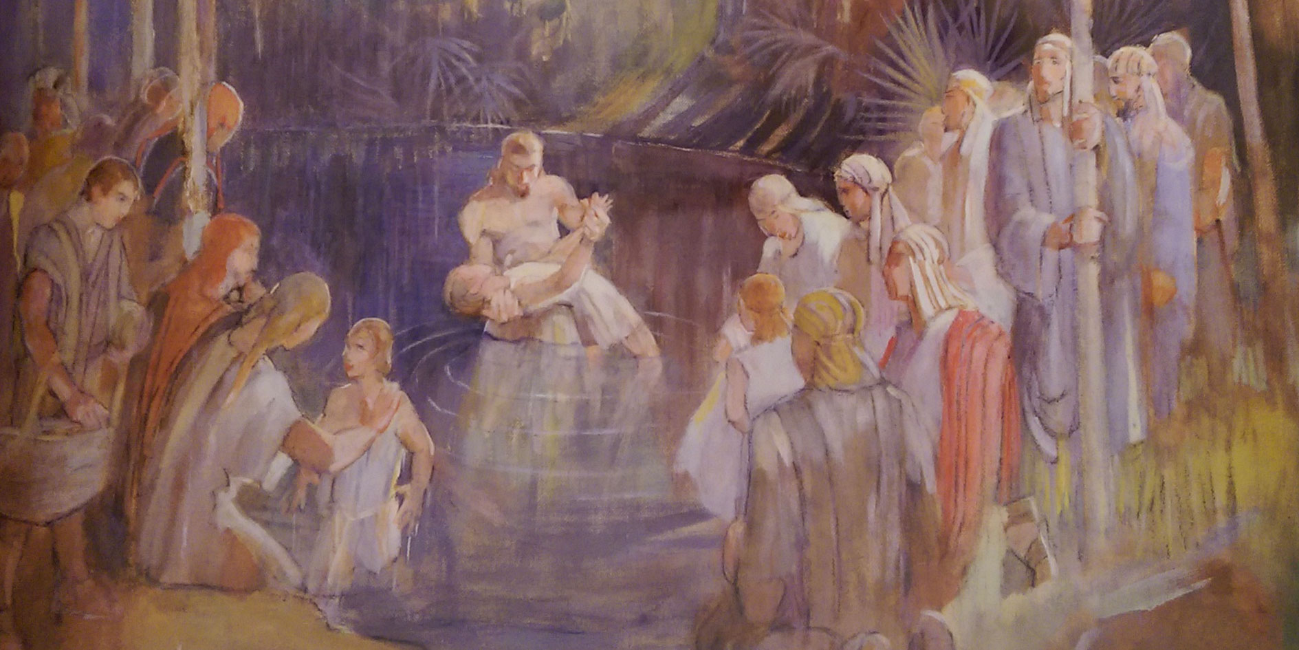 The priesthood is an integal part of Nephite life even though Lehi and his sons were not Levites. Image by Minerva Teichert