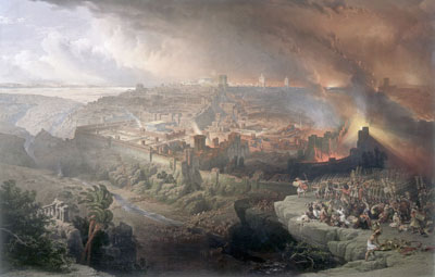 The Destruction of Jerusalem by David Roberts, 1850. Image via Wikimedia Commons.