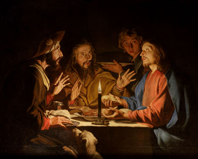Supper at Emmaus by Matthias Stom. Image via Wikimedia Commons.
