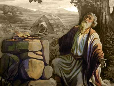 Lehi Sacrificing in the Wilderness. Image courtesy of BYU.