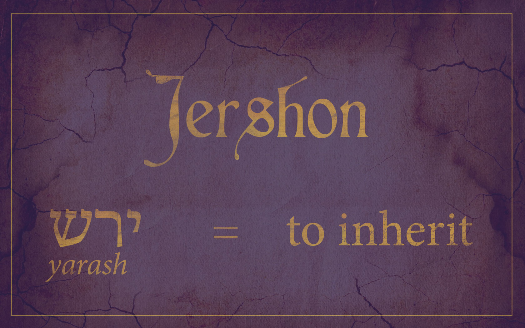 Why Was Jershon Called a Land of Inheritance? | Book of