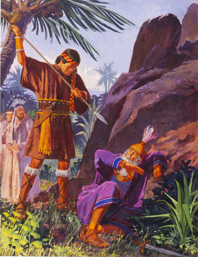 Ammon and King Lamoni, by Jerry Harston
