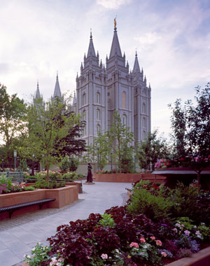 The use of the word path in the scriptures can indicate the path one must take to enter the Lord's temple. Salt Lake City Temple image via Wikimedia commons.