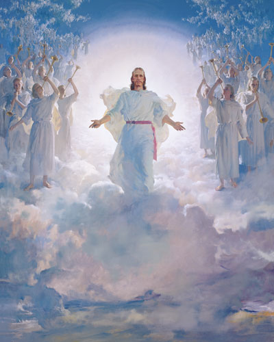 All are exhorted to prepare the path for the Lord's Second Coming. The Second Coming by Harry Anderson. Image via lds.org.