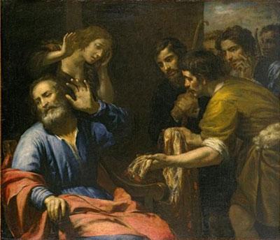 Joseph's Coat Brought to Jacob by Giovanni Andrea de Ferrari. Image via Wikimedia Commons.