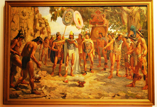 When Helaman tried to preach the gospel, he was heartily rejected. Moctezuma in Chapultepec by Daniel del Valle.