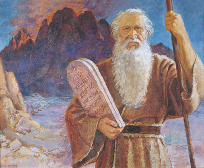 Moses and the Tablets by Jerry Harston. Image via lds.org