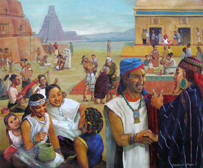 The Nephites were an industrious people and used cement in their building structures. Paz y Felicidad by Jorge Cocco
