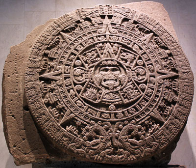 In both Ancient Near Eastern and Mesoamerican cultures, misfortune at the onset of the new year would have been seen as a bad omen. Image of a Mayan calendar via Wikimedia commons.