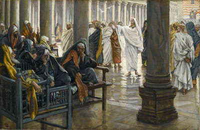 Jewish rabbis throughout the ages debated over the strict rules of vessel purity. Woe unto You, Scribes and Pharisees by James Tissot.