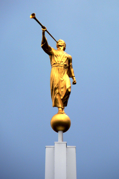 Angel Moroni. Image via Wikimedia Commons.