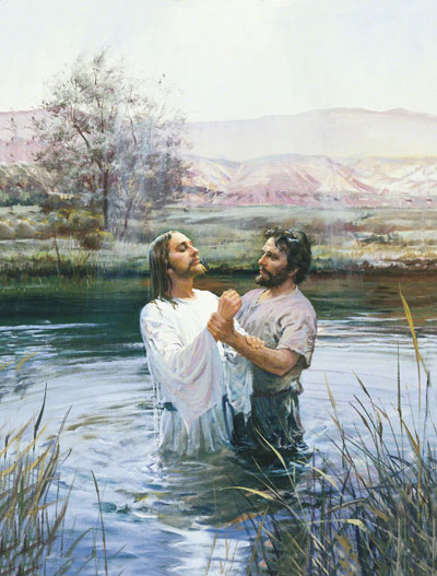 John the Baptist Baptizing Jesus by Harry Anderson